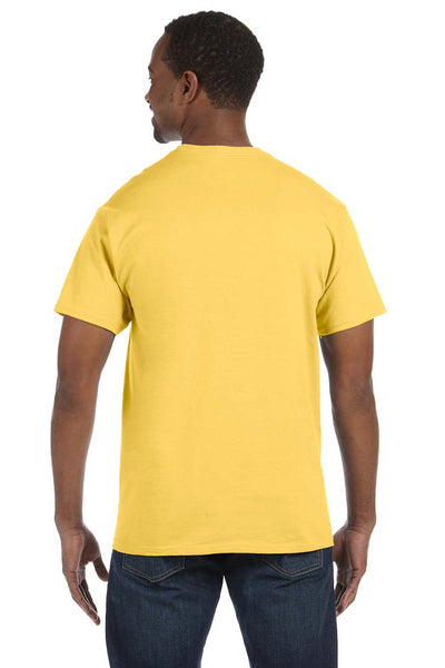 Jerzees 29M Mens Dri-Power Moisture Wicking Short Sleeve Crewneck T-Shirt Island Yellow Back