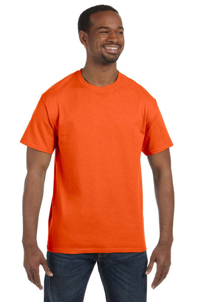Jerzees 29M Mens Dri-Power Moisture Wicking Short Sleeve Crewneck T-Shirt Safety Orange Front