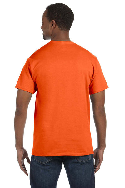 Jerzees 29M Mens Dri-Power Moisture Wicking Short Sleeve Crewneck T-Shirt Safety Orange Back