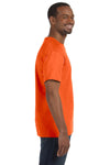 Jerzees 29M Mens Dri-Power Moisture Wicking Short Sleeve Crewneck T-Shirt Safety Orange Side