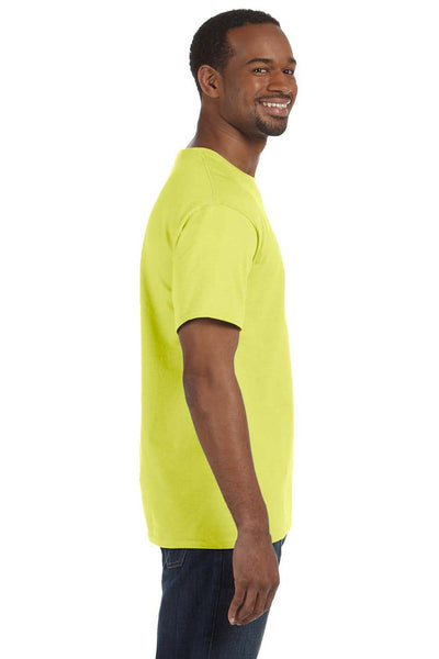 Jerzees 29M Mens Dri-Power Moisture Wicking Short Sleeve Crewneck T-Shirt Safety Green Side