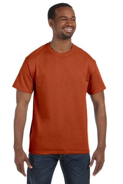 Jerzees 29M Mens Dri-Power Moisture Wicking Short Sleeve Crewneck T-Shirt Texas Orange Front