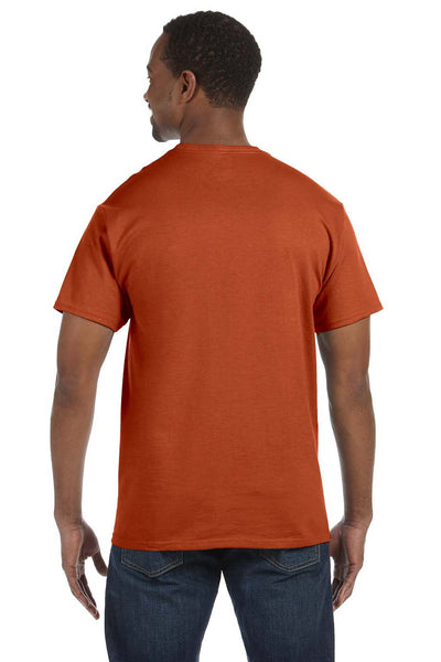 Jerzees 29M Mens Dri-Power Moisture Wicking Short Sleeve Crewneck T-Shirt Texas Orange Back