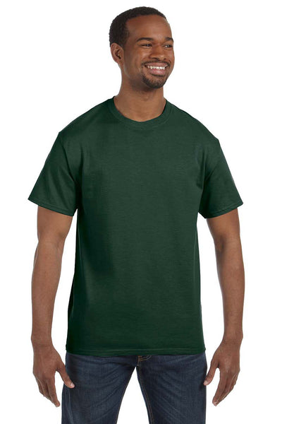Jerzees 29M Mens Dri-Power Moisture Wicking Short Sleeve Crewneck T-Shirt Forest Green Front