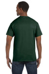 Jerzees 29M Mens Dri-Power Moisture Wicking Short Sleeve Crewneck T-Shirt Forest Green Back