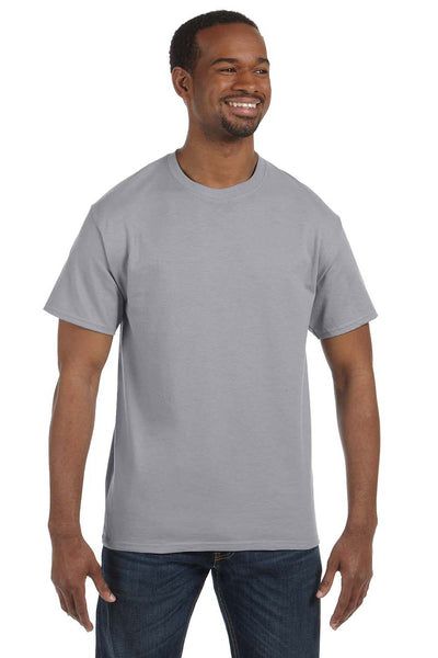 Jerzees 29M Mens Dri-Power Moisture Wicking Short Sleeve Crewneck T-Shirt Oxford Grey Front