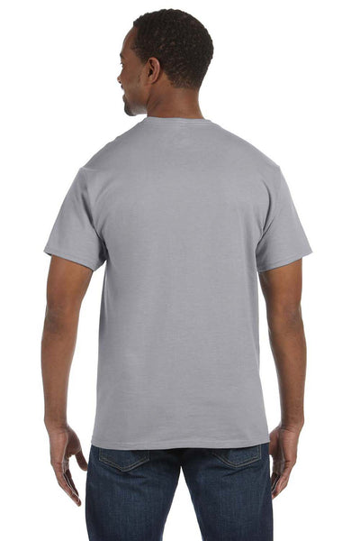 Jerzees 29M Mens Dri-Power Moisture Wicking Short Sleeve Crewneck T-Shirt Oxford Grey Back