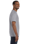 Jerzees 29M Mens Dri-Power Moisture Wicking Short Sleeve Crewneck T-Shirt Oxford Grey Side