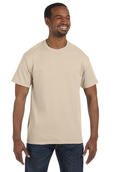 Jerzees 29M Mens Dri-Power Moisture Wicking Short Sleeve Crewneck T-Shirt Sandstone Brown Front