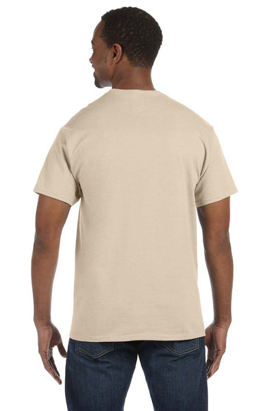 Jerzees 29M Mens Dri-Power Moisture Wicking Short Sleeve Crewneck T-Shirt Sandstone Brown Back