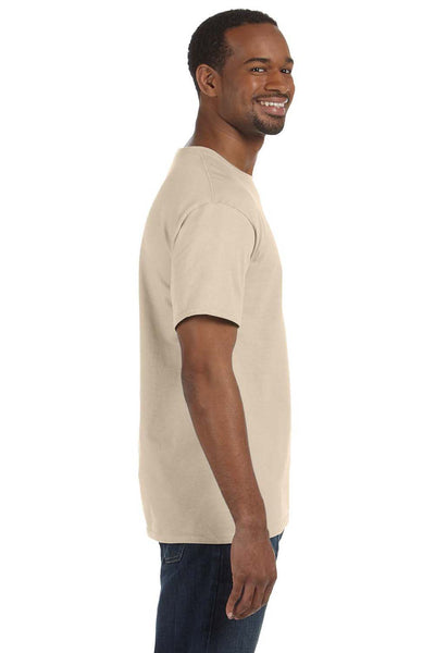 Jerzees 29M Mens Dri-Power Moisture Wicking Short Sleeve Crewneck T-Shirt Sandstone Brown Side