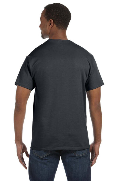 Jerzees 29M Mens Dri-Power Moisture Wicking Short Sleeve Crewneck T-Shirt Charcoal Grey Back