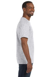Jerzees 29M Mens Dri-Power Moisture Wicking Short Sleeve Crewneck T-Shirt Ash Grey Side