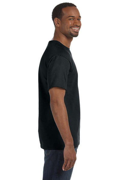Jerzees 29M Mens Dri-Power Moisture Wicking Short Sleeve Crewneck T-Shirt Black Side