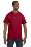 Jerzees 29M Mens Dri-Power Moisture Wicking Short Sleeve Crewneck T-Shirt Cardinal Red Front