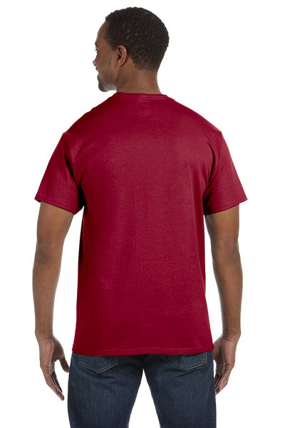 Jerzees 29M Mens Dri-Power Moisture Wicking Short Sleeve Crewneck T-Shirt Cardinal Red Back