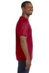 Jerzees 29M Mens Dri-Power Moisture Wicking Short Sleeve Crewneck T-Shirt Cardinal Red Side