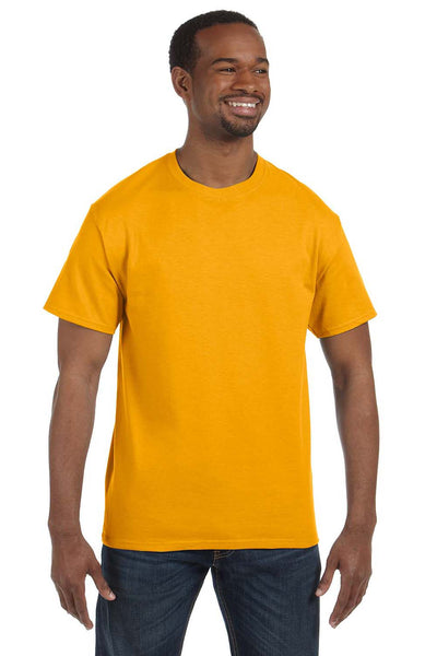 Jerzees 29M Mens Dri-Power Moisture Wicking Short Sleeve Crewneck T-Shirt Gold Front