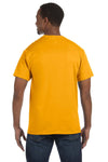 Jerzees 29M Mens Dri-Power Moisture Wicking Short Sleeve Crewneck T-Shirt Gold Back