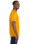 Jerzees 29M Mens Dri-Power Moisture Wicking Short Sleeve Crewneck T-Shirt Gold Side