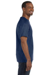 Jerzees 29M Mens Dri-Power Moisture Wicking Short Sleeve Crewneck T-Shirt Navy Blue Side