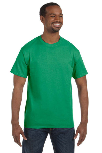 Jerzees 29M Mens Dri-Power Moisture Wicking Short Sleeve Crewneck T-Shirt Kelly Green Front