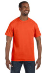 Jerzees 29M Mens Dri-Power Moisture Wicking Short Sleeve Crewneck T-Shirt Burnt Orange Front