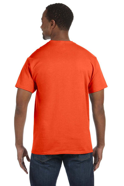 Jerzees 29M Mens Dri-Power Moisture Wicking Short Sleeve Crewneck T-Shirt Burnt Orange Back