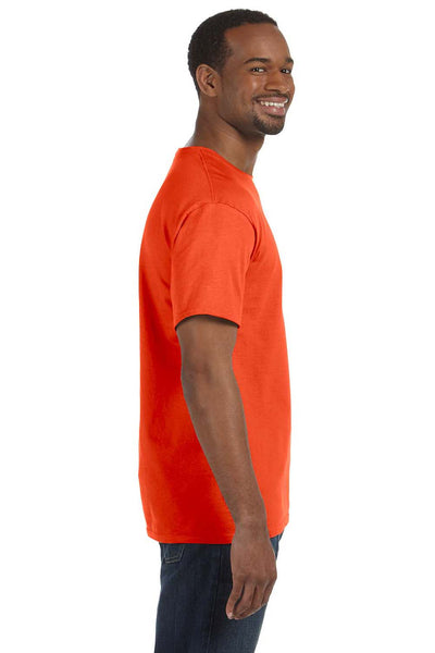 Jerzees 29M Mens Dri-Power Moisture Wicking Short Sleeve Crewneck T-Shirt Burnt Orange Side