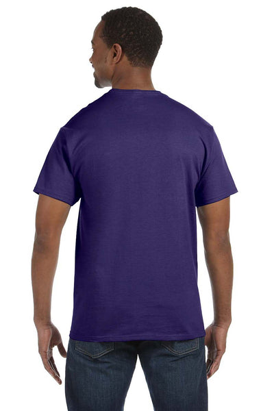 Jerzees 29M Mens Dri-Power Moisture Wicking Short Sleeve Crewneck T-Shirt Purple Back