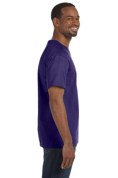 Jerzees 29M Mens Dri-Power Moisture Wicking Short Sleeve Crewneck T-Shirt Purple Side