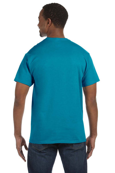 Jerzees 29M Mens Dri-Power Moisture Wicking Short Sleeve Crewneck T-Shirt California Blue Back