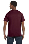 Jerzees 29M Mens Dri-Power Moisture Wicking Short Sleeve Crewneck T-Shirt Maroon Back