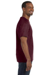 Jerzees 29M Mens Dri-Power Moisture Wicking Short Sleeve Crewneck T-Shirt Maroon Side