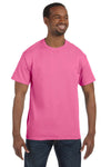 Jerzees 29M Mens Dri-Power Moisture Wicking Short Sleeve Crewneck T-Shirt Neon Pink Front