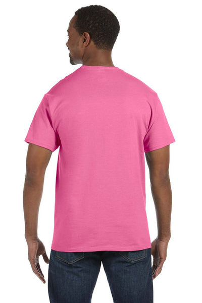Jerzees 29M Mens Dri-Power Moisture Wicking Short Sleeve Crewneck T-Shirt Neon Pink Back