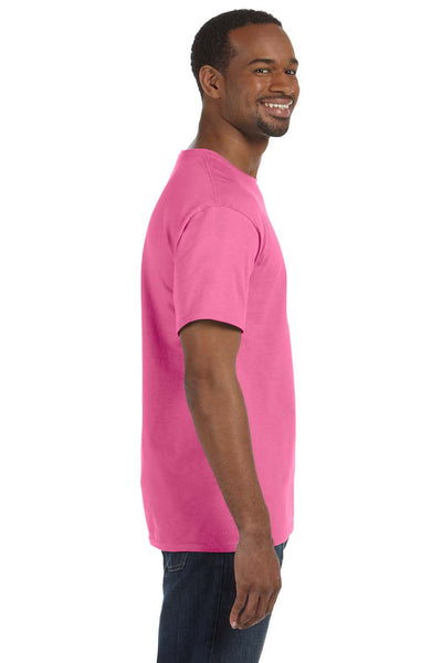 Jerzees 29M Mens Dri-Power Moisture Wicking Short Sleeve Crewneck T-Shirt Neon Pink Side