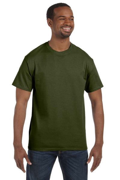 Jerzees 29M Mens Dri-Power Moisture Wicking Short Sleeve Crewneck T-Shirt Military Green Front