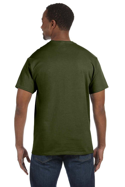 Jerzees 29M Mens Dri-Power Moisture Wicking Short Sleeve Crewneck T-Shirt Military Green Back