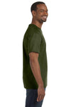 Jerzees 29M Mens Dri-Power Moisture Wicking Short Sleeve Crewneck T-Shirt Military Green Side