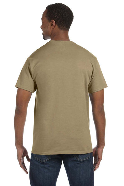 Jerzees 29M Mens Dri-Power Moisture Wicking Short Sleeve Crewneck T-Shirt Khaki Brown Back