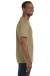 Jerzees 29M Mens Dri-Power Moisture Wicking Short Sleeve Crewneck T-Shirt Khaki Brown Side