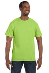 Jerzees 29M Mens Dri-Power Moisture Wicking Short Sleeve Crewneck T-Shirt Neon Green Front