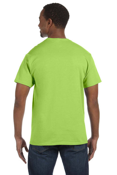 Jerzees 29M Mens Dri-Power Moisture Wicking Short Sleeve Crewneck T-Shirt Neon Green Back