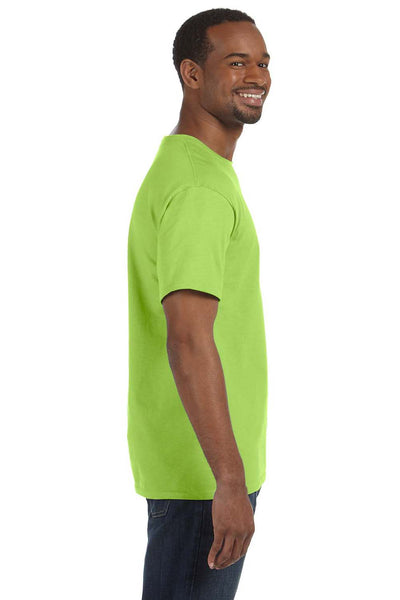 Jerzees 29M Mens Dri-Power Moisture Wicking Short Sleeve Crewneck T-Shirt Neon Green Side