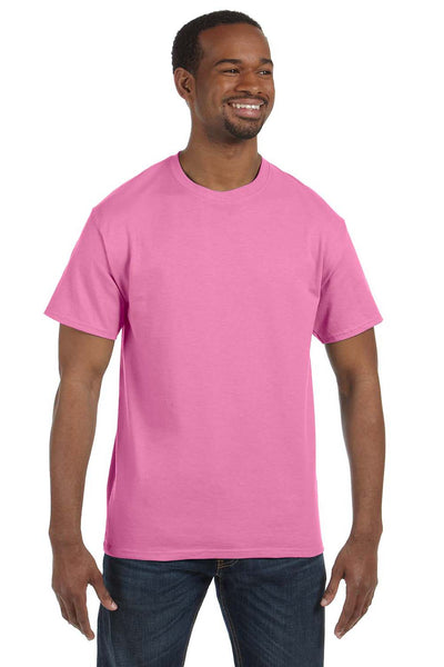 Jerzees 29M Mens Dri-Power Moisture Wicking Short Sleeve Crewneck T-Shirt Azalea Pink Front