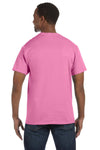 Jerzees 29M Mens Dri-Power Moisture Wicking Short Sleeve Crewneck T-Shirt Azalea Pink Back