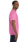 Jerzees 29M Mens Dri-Power Moisture Wicking Short Sleeve Crewneck T-Shirt Azalea Pink Side