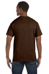 Jerzees 29M Mens Dri-Power Moisture Wicking Short Sleeve Crewneck T-Shirt Chocolate Brown Back