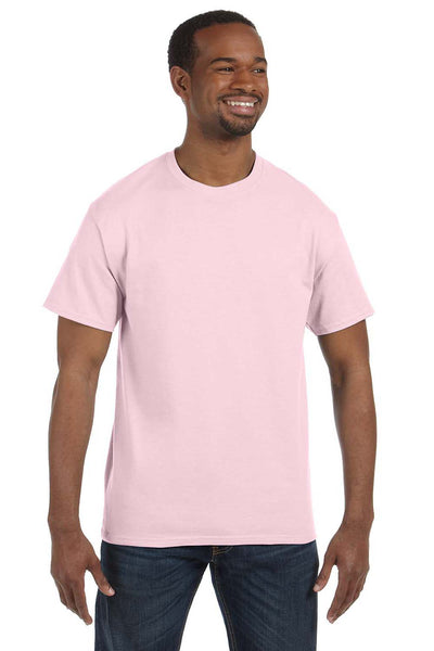 Jerzees 29M Mens Dri-Power Moisture Wicking Short Sleeve Crewneck T-Shirt Classic Pink Front